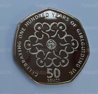 2010  Proof Fifty Pence coin 100th Anniversary Of The Girl Guides  50p