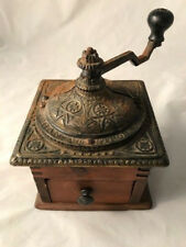 Antique Cast Iron And Wood Coffee Mill Grinder Logan & Strobridge