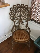 Victorian High Back Pea Wicker Cane Chair