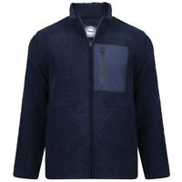 Mens KAM Smart Premium Teddy Fleece Faux Shearling Jacket Warm Big Size 2-8XL