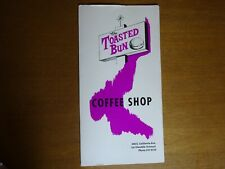 Toasted Bun Coffee Shop Menu Glendale California CA Googie Graphics Restaurant