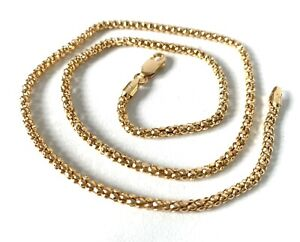 Veronese Solid Sterling Silver Gold Clad/Plate Fancy Link Chain Necklace 18inch