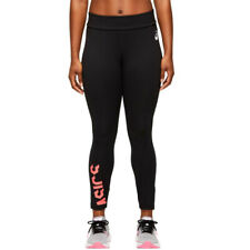 Asics Womens ESNT 7/8 Tights Bottoms Pants Trousers - Black Sports Running Warm