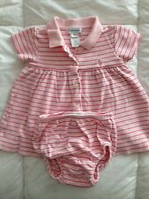 Baby Girl Polo Ralph Lauren Dress Pink Size 6M EUC