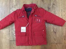BNWT Timberland Rosso Cappotto Invernale Imbottito Con Cappuccio 12-18 mesi