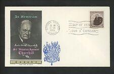 Postal History Canada Scott #440 FDC Winston Churchill 1965 Ottawa ON Tinted
