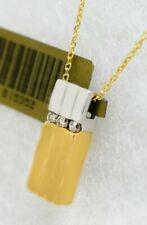 GENUINE DIAMOND PENDANT 14K YELLOW & WHITE GOLD ** Free Shipping & Chain**