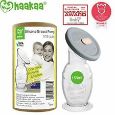 Haakaa Silicone Breast Pump with Suction Base & Silicone Cap Combo (150ml)