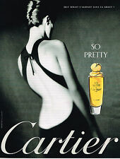 PUBLICITE ADVERTISING 114  1998  CARTIER    parfum femme SO PRETTY
