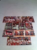 *****The Wood Family*****  Lot of 14 cards.....13 DIFFERENT / Auto Racing