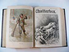 Superb Rare Antique Chatterbox Annual 1882-3 Illustrated Hardback Edition