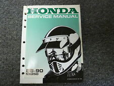 1988 1989 1990 Honda NX250 Dominator Motorcycle Shop Service Repair Manual