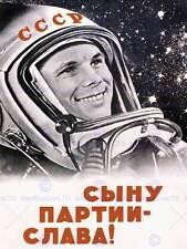 PROPAGANDA SOVIET USSR GAGARIN COSMONAUT COMMUNISM POSTER ART PRINT BB2726B