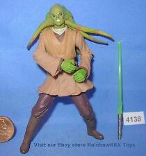 Star Wars 2002 KIT FISTO Jedi Master 3.75 inch Figure COMPLETE