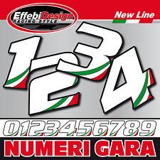 Adesivo Stickers numero numeri gara cross pista auto moto gp sbk tricolore 1 PZ