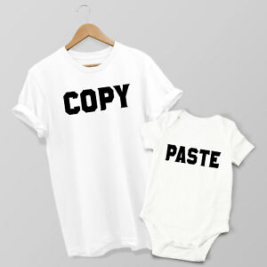 Copy & Paste - Mother & Son or Daughter Matching T-shirt & Baby Grow Set