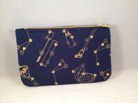 Ipsy MyGlam Glam Bag November 2016 Rockstarlet Cosmetic case purse navy gold