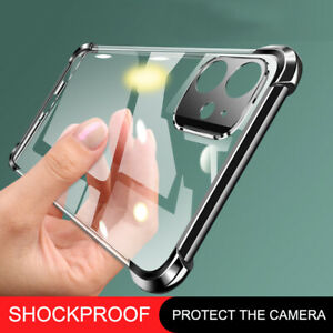 Shockproof Case For iPhone SE 2020 11 Pro XR XS MAX 8 7 Plus Plating Clear Soft
