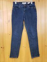 Nine West Women's Freedom Low Rise Skinny Blue Jeans Size 8 Dark Wash