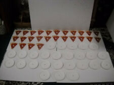 Pizza Plate Educational 52 Piece Letter Sound Matching Game Laminated Brand New!