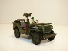JEEP WILLYS 1/43 WW2 US ARMY avec figurine et fusil