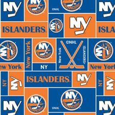 NHL HOCKEY NEW YORK ISLANDERS FLEECE FABRIC MATERIAL BY THE 1/2 YARD FOR CRAFTS