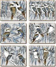Cinnamon Kookaburra Laugh Placemats and Coasters (12 Items)
