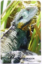 SWAP CARD. EASTERN WATER DRAGON. AUSTRALIAN WILDLIFE COLLECTION. BLANK BACK.RARE