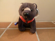 Beanie - Coca-Cola 1999  Plush BARRIS BROWN BEAR-RUSSIA Soft Toy- Rare Vintage