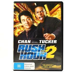 Rush Hour 2 Jackie Chan Chris Tucker Comedy Martial Arts DVD R4 Good Condition