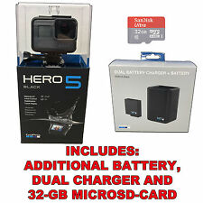 GoPro HERO5 Black 4K HD Waterproof Action Camera +32GB SD-Card + Battery Charger