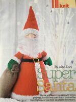 KNITTING PATTERN Alan Dart Super Santa Father Christmas Toy 38cm tall PATTERN
