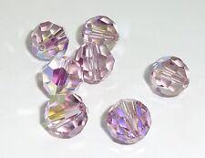 Swarovski crystal beads 8mm 5000 -LT AMETHYST AB - Bulk (288 pcs)($.28 per bead)