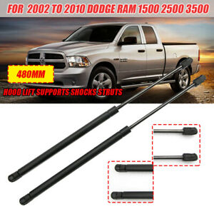 2x Car Front Hood Lift Gas Shock Strut Supports Black For Dodge RAM 1500 2500