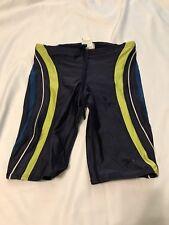 Speedo Cycling Shorts Blue Size 30 Mens Green Stripes