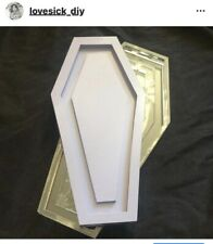 10 Inch Gothic Coffin Silicone Mold For Resin