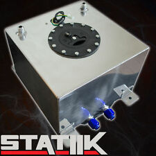 57L/15 GALLON FUEL CELL TANK W CAP GAS POLISHED RACING LEVEL SENDER UNIT D4