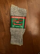 NEW Rawlings Thermal Outdoor Socks - Sock Size 10-13 - Gray with Tan Trim