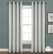 Lush Decor Faux Linen Absolute Grommet Blackout Window Curtain Light Grey 52X9