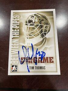 TIM THOMAS AUTOGRAPHED BOSTON BRUINS CARD