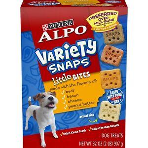 Purina Alpo Variety Snaps Little Bites Biscuit Dog Treats 32 oz Box