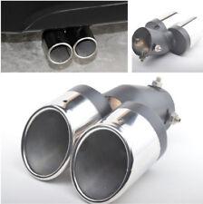 1xAuto hinten gebogen Auspuff Dual Pipe TippEndschalldämpfer aus Edelstahl 63mm