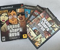 Grand Theft Auto Trilogy PlayStation 2 PS2 Vice City San Andreas Complete w Maps