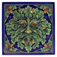 Spirit of the Oak/Green Man Wall Tile Plaque by Lisa Parker   Nemesis Now