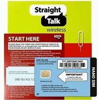 Straight Talk AT&T Nano SIM Card - iPhone 6s+, 6s, 6+, 6, 5s, 5c, 5 - 4G LTE!