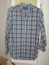 RALPH LAUREN big boys madras plaid cotton oxford shirt Sz XL 18-20
