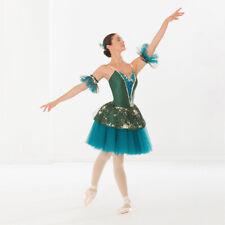 Revolution Dancewear Royal Dream Green Ballet Dress Dance Costume Adult Medium