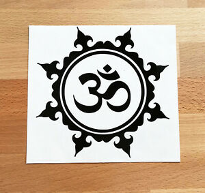 OM YOGA MEDITATION PEACE TRANQUILITY STICKERS STICKY DECAL CAR VAN BUMPER LAPTOP