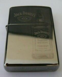ALCOHOL JACK DANIELS BOTTLE ZIPPO LIGHTER FREE P&P FREE FLINTS