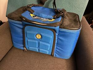 6 Pack Fitness Innovator Meal Management Bag Cooler- Blue Travel Fit